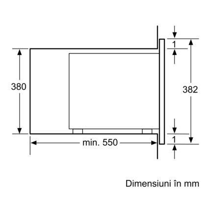 Cuptor cu microunde incorporabil Bosch BFL554MB0 Serie 6, AutoPilot7, 25 litri, sticla neagra