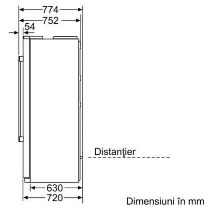 Combina frigorifica Side-By-Side Bosch KAD90VI20 Serie 6, Clasa A+, NoFrost, Multi-AirFlow, 533 litri, dozator apa si gheata, filtru apa, usi Inox Antiamprenta
