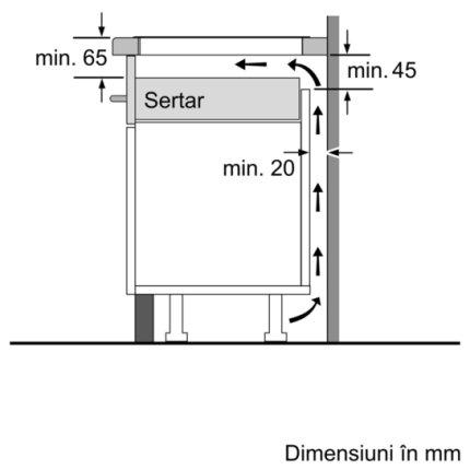 Plita cu inductie incorporabila Bosch PUJ611BB1E Serie 4, 60cm, vitroceramica, 3 zone, TouchSelect, negru