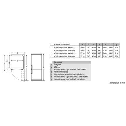 Combina frigorifica Bosch KGN49XW30 Serie 4, 435 litri, NoFrost, Multi Airflow, FreshSense, Clasa A++, alb