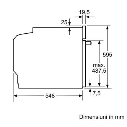 Cuptor electric incorporabil Bosch HBG5370S0 Serie 6, multifunctional 7 functii, 71 litri, inox
