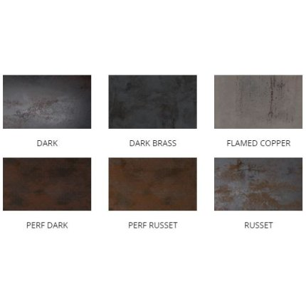 Gresie portelanata rectificata Diesel living Metal Perf 60x30cm, 9mm, Perf Dark Lappato