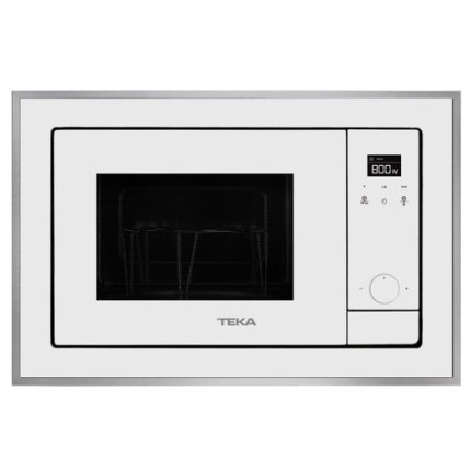 Cuptor cu microunde incorporabil Teka ML 820 BIS 18 litri, 700W, interior inox, grill 1000W, Inox antipata/cristal alb