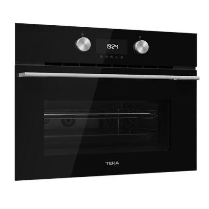Cuptor cu microunde incorporabil Teka MLC 844 cu 3 functii, 1000W, grill 1400W, 44 litri, Inox antipata/cristal negru