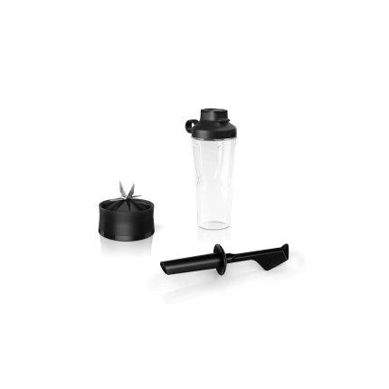 Blender de masa Bosch VitaPower MMB6174S Serie 4, 1200W, sticla ToGo, grafit