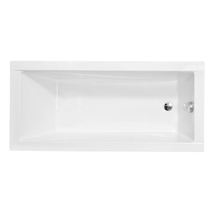Cada baie rectangulara Besco Modern Slim 170x70cm, acril, incastrabila