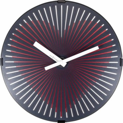 Ceas de perete NeXtime Motion Heart 30cm Red