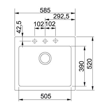 Chiuveta fragranite Franke Maris MRG 610-58, 585x520mm, Sahara