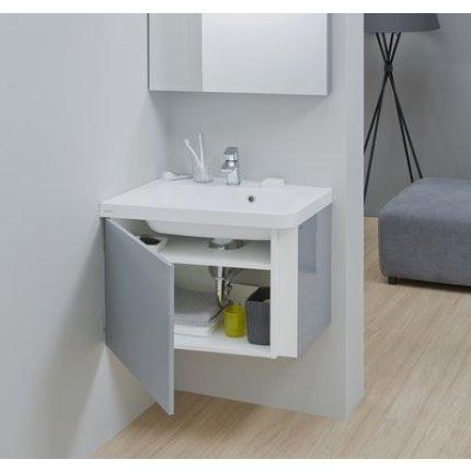 Dulap baza pentru lavoar de colt Ravak Concept 10° cu un sertar, 55x48.5x45cm, stanga, gri