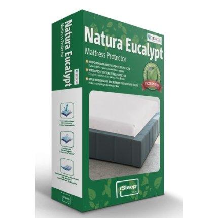 Protectie saltea iSleep Natura Eucalypt 90x200cm, impermeabila