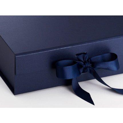 Cutie cadou Folda Large, inchidere magnetica si fundita, Navy Blue