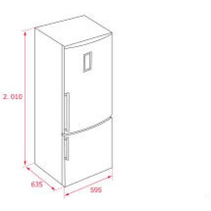 Combina frigorifica Teka NFL 430 E-inox Full No Frost, 360 litri, clasa A++, inox