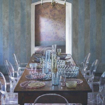 Recipient zahar cu capac Kartell Jellies Family, design Patricia Urquiola, albastru transparent