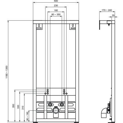 Cadru Ideal Standard pentru fixre bideu, 118cm