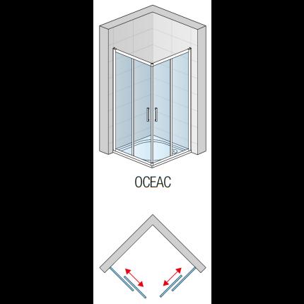 Cabina de dus patrata SanSwiss Ocelia 90x90cm