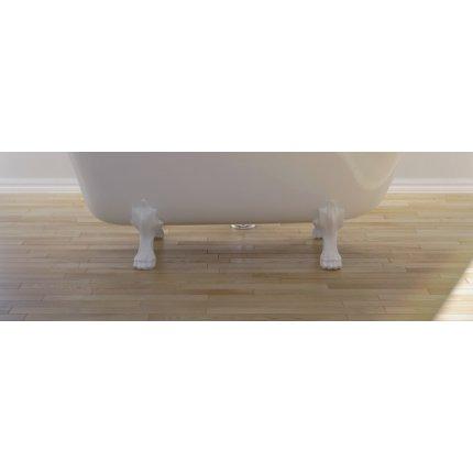 Cada retro free-standing Besco Otylia cu picioare albe 170 x 77 cm, interior negru, exterior alb