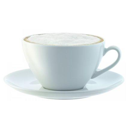Set 4 cesti si farfuriute cappuccino LSA International Dine Curved 0.35 litri