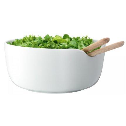 Bol cu tacamuri servire salata LSA International Dine 24cm