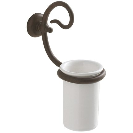 Suport pahar Globo Paestum, montare pe perete, ceramica, metal antichizat