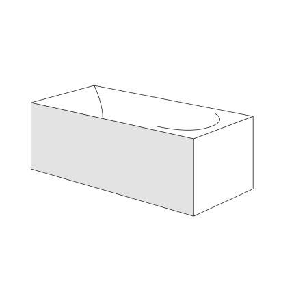 Panou frontal Radaway pentru cazi rectangulare 170cm, h56cm