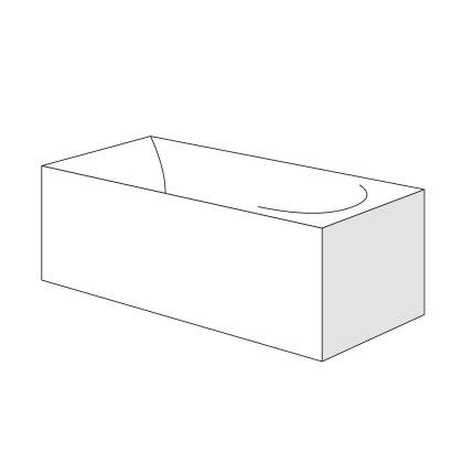 Panou lateral Radaway pentru cazi rectangulare 75cm, h56cm