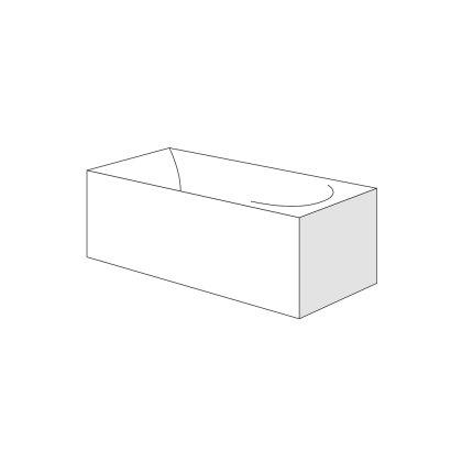 Panou lateral pentru cada Radaway Itea Lux 190x120cm, h65cm