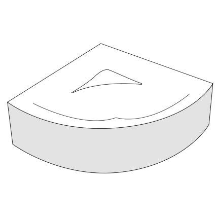 Panou frontal Radaway pentru cada Keria 150x150cm