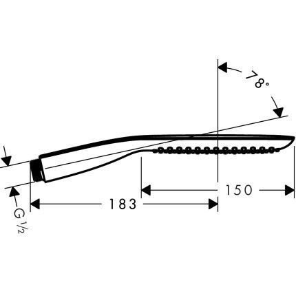Para dus Hansgrohe Pura Vida 120mm, tehnologie de curatire rapida anticalcar, alb/crom
