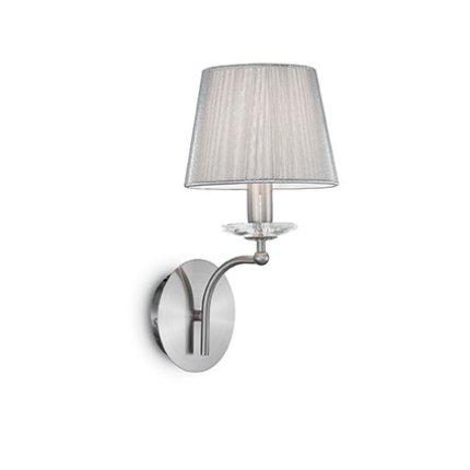 Aplica Ideal Lux Paris AP1, 1x40W, 17x34.5x20.5cm, argintiu