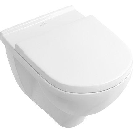 Set vas WC suspendat Villeroy & Boch O.Novo 56x36cm Directflush si capac cu Inchidere lenta si QuickRelease