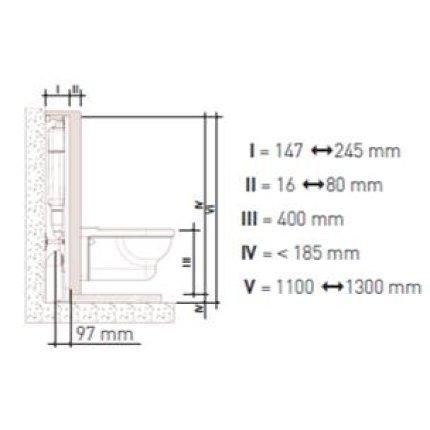 Rezervor wc Ideal Standard si cadru incastrat