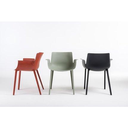 Scaun Kartell Piuma design Piero Lissoni, negru