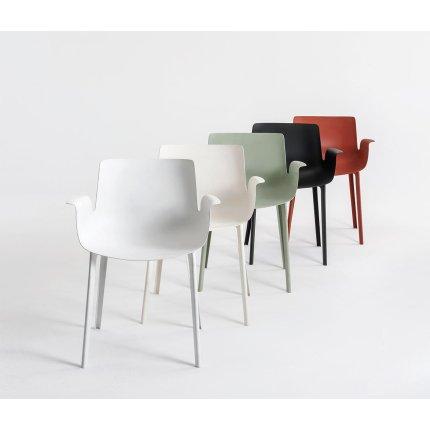 Scaun Kartell Piuma design Piero Lissoni, gri