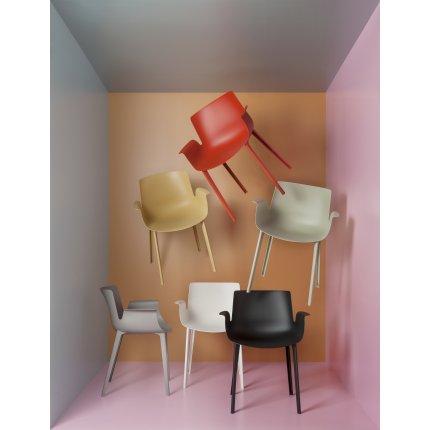 Scaun Kartell Piuma design Piero Lissoni, ruginiu