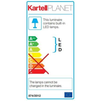 Lampadar Kartell Planet design Tokujin Yoshioka, LED, d31cm, h160cm, transparent