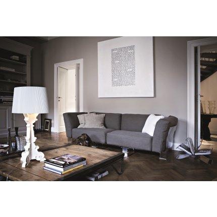 Canapea Kartell Pop Duo design Piero Lissoni & Carlo Tamborini, cadru transparent, tapiterie Nile, gri