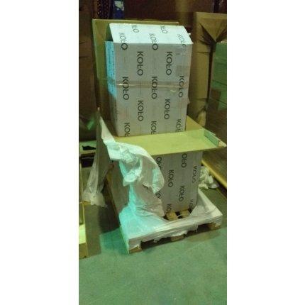 Set mobilier Kolo Rekord 60cm lavoar si dulap baza cu o usa, alb lucios RESIGILAT
