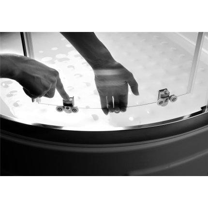 Cabina de dus semirotunda Radaway Premium Plus E 1900, 90x80cm, sticla satinata