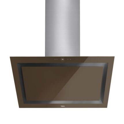 Hota semineu Teka DLV 685 LB 60cm design vertical, 3 trepte + turbo, 2 turbine, max 782m3/h, Cristal London brick brown