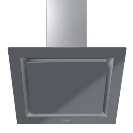 Hota Teka DLV 68660 ST 60cm design vertical, 3 trepte + turbo, max 614m3/h, Stone Grey