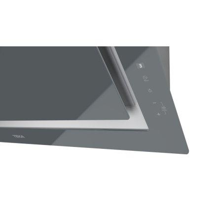 Hota Teka DLV 98660 ST 90cm design vertical, 3 trepte + turbo, max 614m3/h, Stone Grey