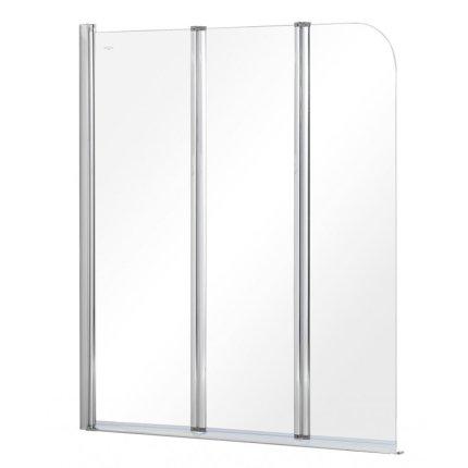 Paravan de cada Besco Prime 3, 120x140cm, trei elemente mobile, profil crom lucios