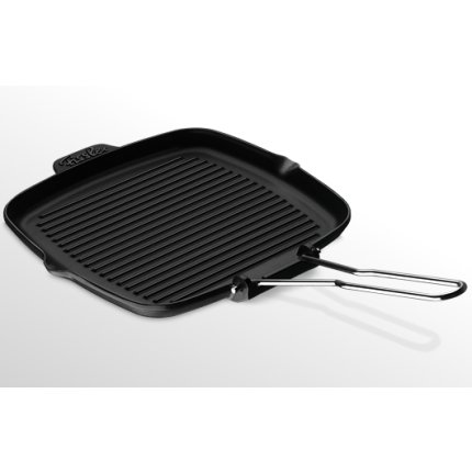 Tigaie grill fonta Fissler Arcana 24x24 cm, antiaderenta, inductie