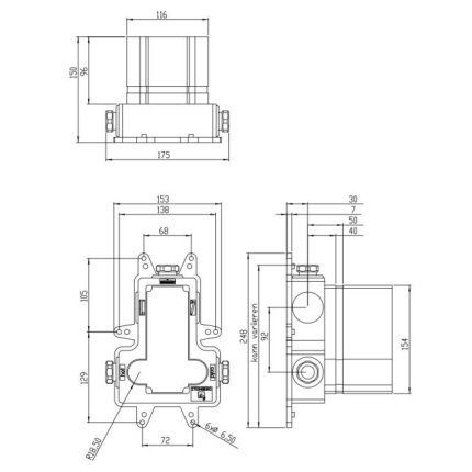 Corp ingropat Steinberg Steinbox pentru baterie cu termostat