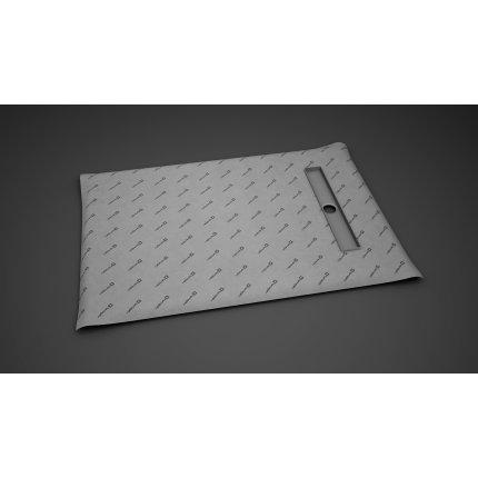 Kit rigola de dus Radaway pe latura scurta RadaDrain 100x80cm placare 5-7mm