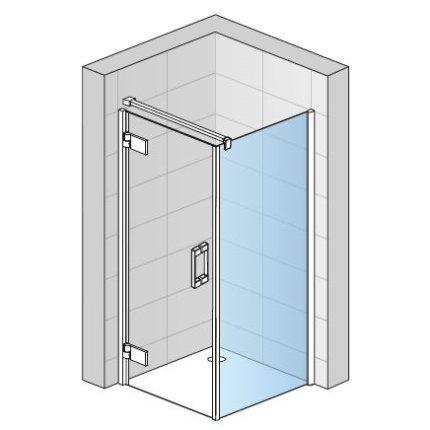 Perete lateral fix Sanswiss Pur Aquaperle 90cm, sticla securizata transparenta 8mm, profil crom