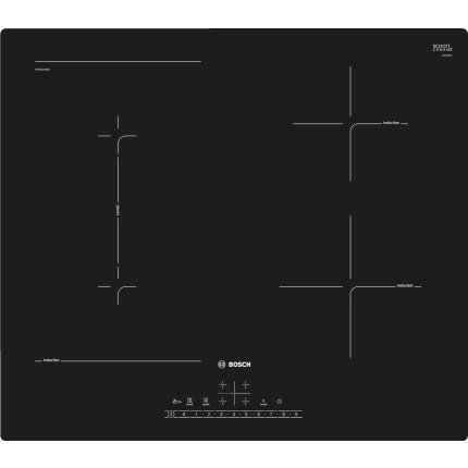 Plita inductie incorporabila Bosch PVS611FB5E Serie 6, 60cm, 4 zone, negru