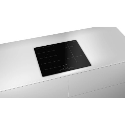 Plita inductie incorporabila Bosch PXE611FC1E Serie 6, 60cm, 4 zone, PerfectFry, negru