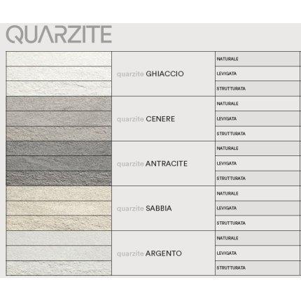 Gresie portelanata rectificata FMG Pietre Quarzite 120x20cm, 10mm, Antracite Levigato