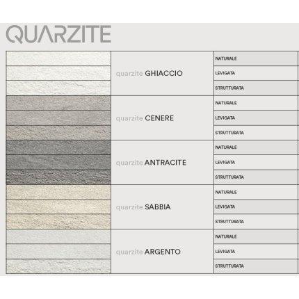 Gresie portelanata rectificata FMG Pietre Quarzite 30x60cm, 10mm, Antracite Naturale